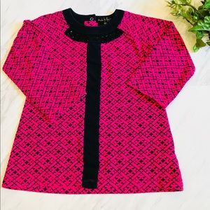 Nicole Miller Kids | Tunic Pink and Black Size 6X